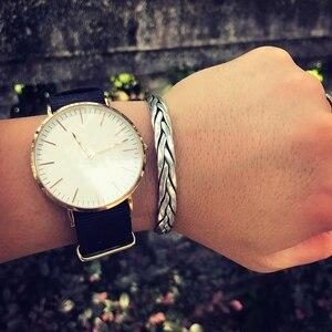Image 5 - ZABRA pulsera abierta de plata de ley 999 trenzada para amantes, Unisex, joyería Retro para el Día de San Valentín