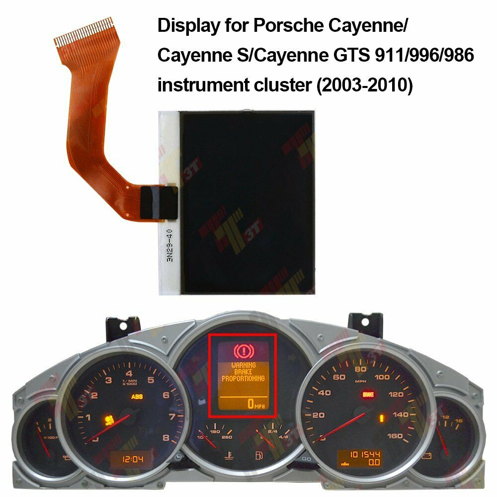 PORSCHE 996 911 986 BOXTER INSTRUMENT CLUSTER LCD DISPLAY PIXEL REPAIR SERVICE