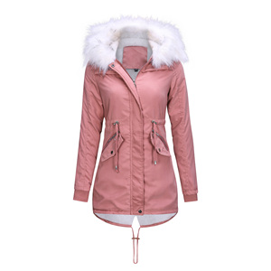 Image 2 - Women Jacket Long Overcoats Winter Warm Thick Female Casual Military Fur Tops Jackets Coats  Dropshipping