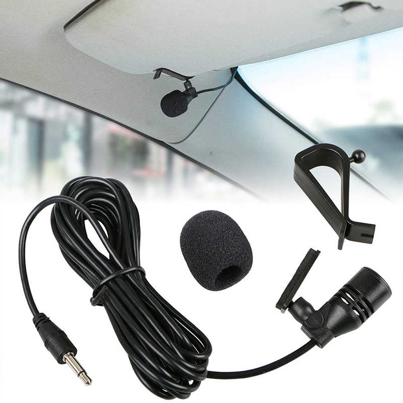 Auto Audio Microfoon 3.5 Mm Clip Jack Plug Mic Stereo Mini Wired Externe Microfoon Voor Pc Auto Radio 3 M lange Professionals
