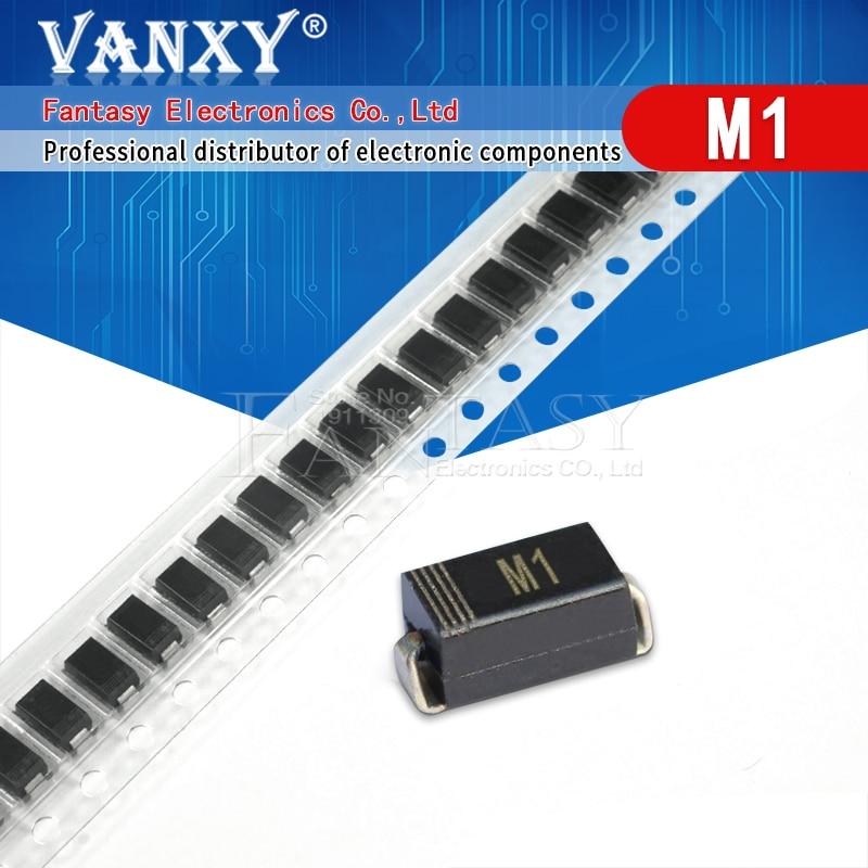 Diodo de 100 pces in4001 sma m1 1n4001 smd 1a 50v retificador|in4001 diode|rectifier diodediode sma -