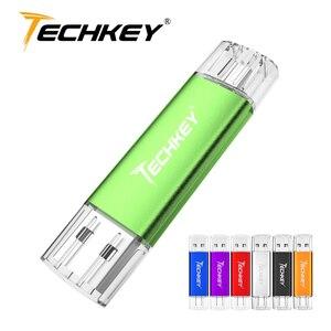 Флэшка OTG Cle Usb флешка 4 ГБ 8 ГБ 16 ГБ 32 ГБ 64 Гб Usb флеш-накопитель полная емкость флеш-накопитель usb карта памяти подарок смартфон