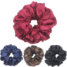 Scrunchie Women Flexible Rubber Band Simple Hijab Volumizing Large Hair Bow Headwear Ponytail Holder Headdress