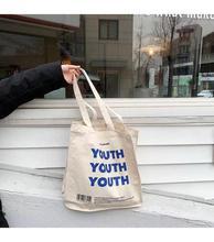 Women Canvas Shoulder Bag Shopping Bags Letters Print Female Cotton Cloth Causal Tote Eco Handbag Totes Girl Purse And Handbags стоимость