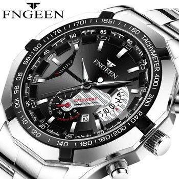 2020 Top Brand Luxury Watch Fashion Casual Military Quartz Sports Wristwatch Full Steel Waterproof Men's Clock Relogio Masculino - discount item  48% OFF Men's Watches