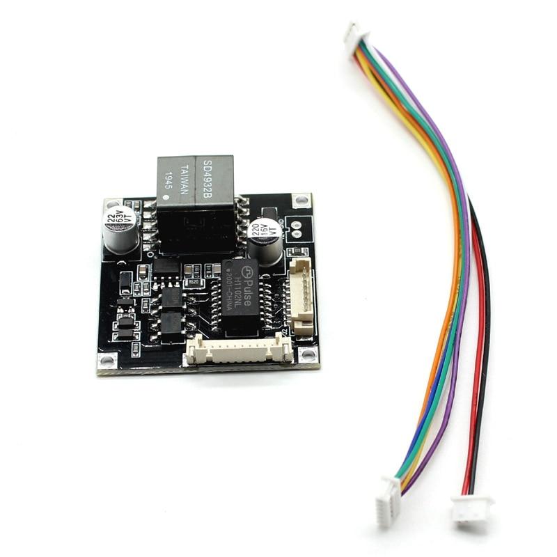 POE Module Board Smart POE IEEE802.3af/at 8Pin Power Over Ethernet Output 12V Input 48V For Security CCTV Network IP Camera