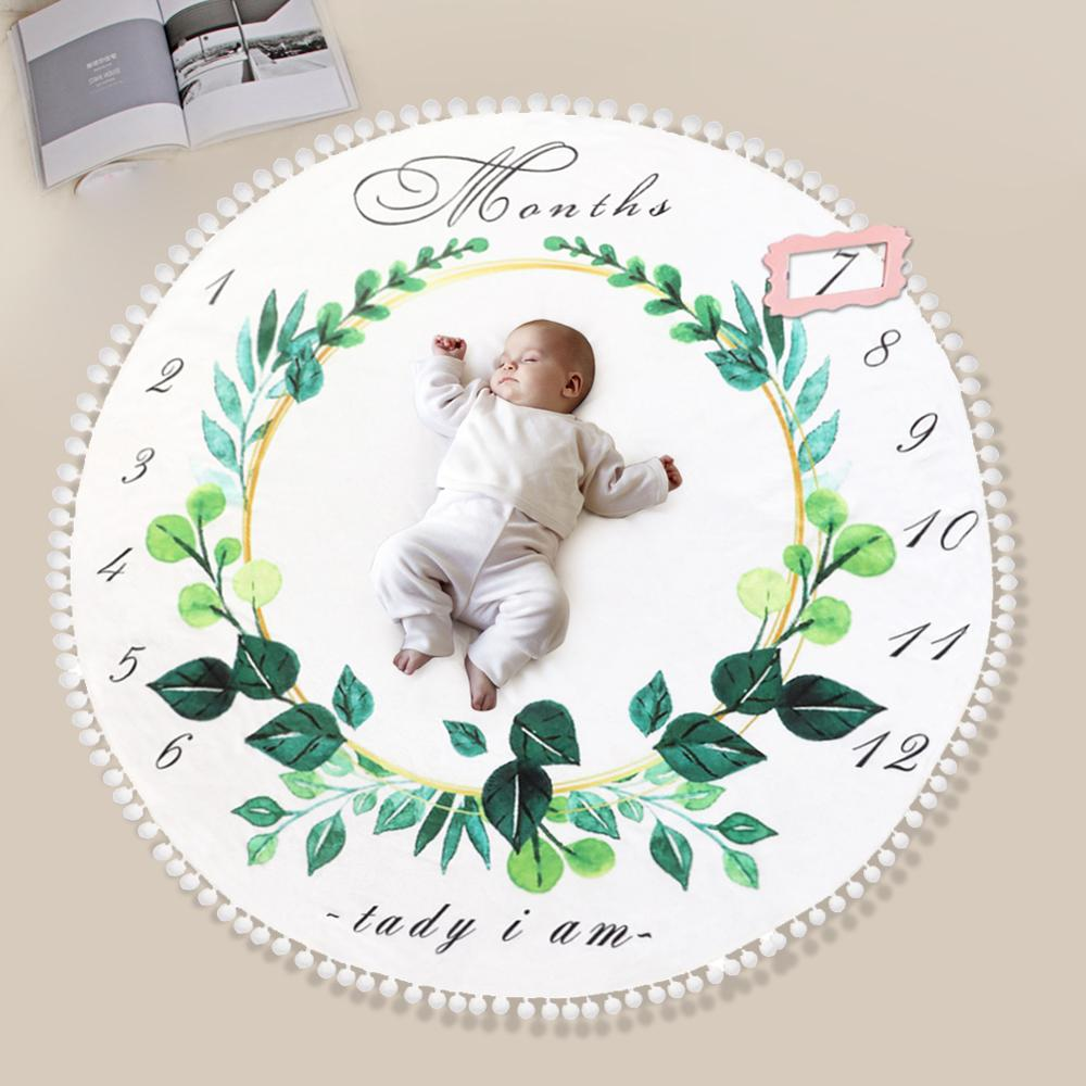 Flannel Photo Background Blanket High-quality Multi-function Soft Surface Baby Wrap Infant Color Printed Newborn Game Mat(China)