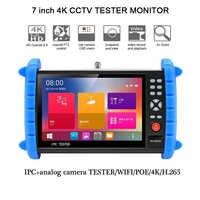 7 Inch HD Screen 4K 8MP IP/CVBS Analog /TVI/ CVI /AHD 5MP Wifi HDMI Security Signal PTZ ONVIF 12V3A POE Professional Test Tool
