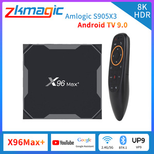 Android 9.0 TV Box X96MAX+ 4/32/64GB Smart TV-Box 2.4/5.0G WiFi Amlogic S905X3 Quad Core 8K Video Player Smart Tv X96 Max Plus