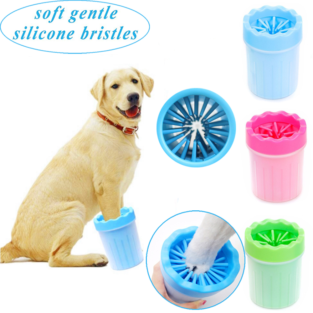 Plunger For Dogs Paw Cleaner Silicone Cat Grooming Feet Washer 3 Colors Dirty Cleaning Cup Small Medium Big Pets Dog Accessories