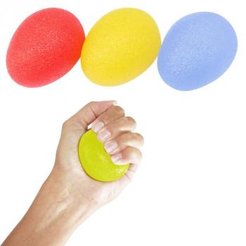 Silicone Massage Therapy Grip Ball For Hand Finger Strength Exercise Stress Relief Egg-shaped anti spasticity ball fingers apart hand far infrared impairment finger orthosis vibration massage rehabilitation exercise