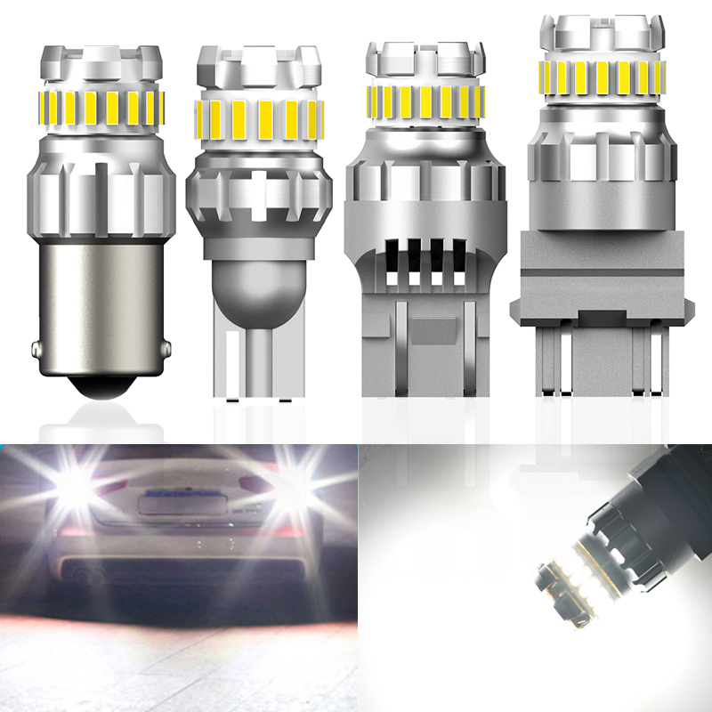 2x P21/5W BA15S P21W <font><b>LED</b></font> Canbus 7440 W21W W21/5W <font><b>LED</b></font> Bulb BAY15D Car Reverse <font><b>Light</b></font> For VW <font><b>Golf</b></font> <font><b>4</b></font> 5 6 MK3 Scirocco Polo 9n Caddy image
