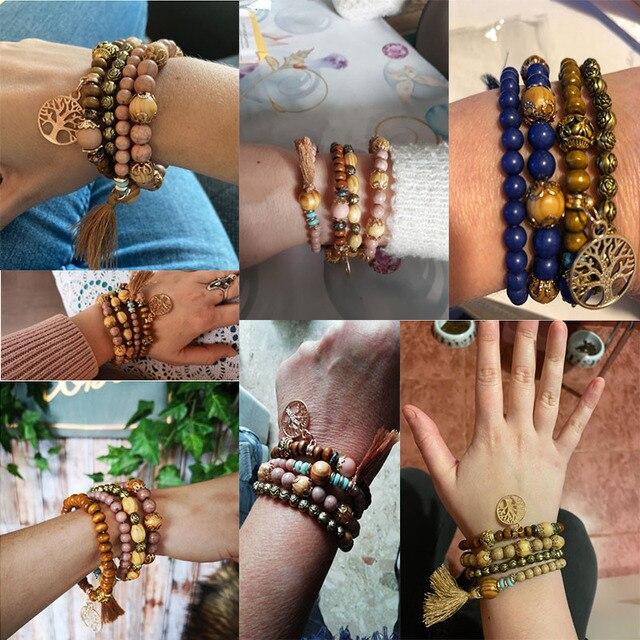 Rose sisi jewelry friends bohemian bracelets for women bracelet natural stone bracelet Fashion ladies clothing accessories 6