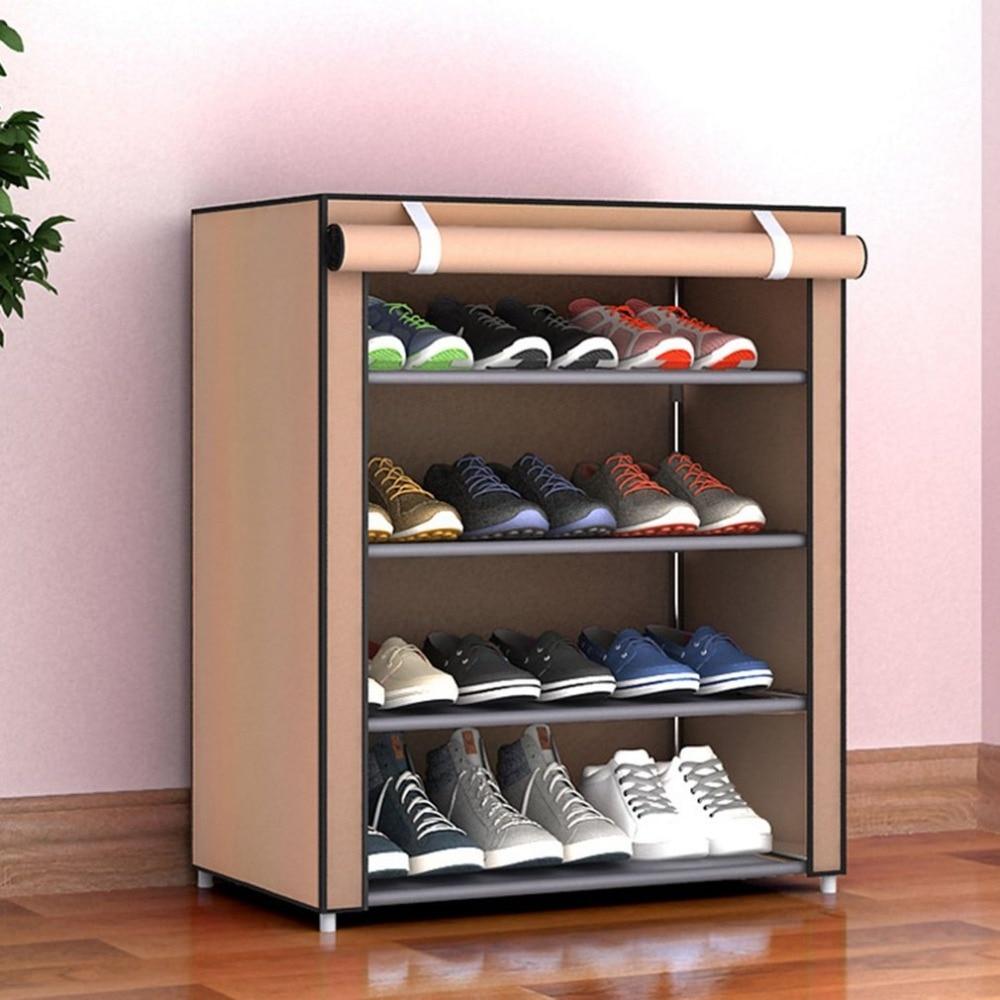 Multiple Styles Dustproof Home Shoe Rack Size Non-Woven Multiple Layers Shoes Shelf Stand Holder Door Shoe Rack Shoe Organizer