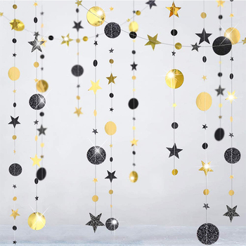 Stars Glitter Paper Banner 2021 Happy New Year Party Decorations For Home Ornaments 2020 Christmas Santa Tree Xmas Garland happy new year 2021 foil balloon set 2020 merry christmas eve party decorations for home ornaments santa claus tree xmas snowman