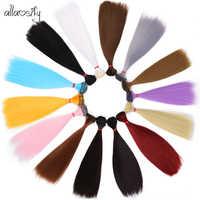 Pelo Allaosify para muñecas, pelo bjd 15cm * 100cm 25cm * 100CM Peluca de muñecas rectas largas de color negro, rosa, blanco y gris para 1/3 1/4 BJD DIY