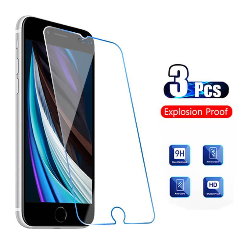 3 pçs vidro protetor no para iphone 6 s 7 6 s plus protetor de tela aifone 6 s vidro protetor de tela iphone6s filme aiphone s6 3d pelicula armadura