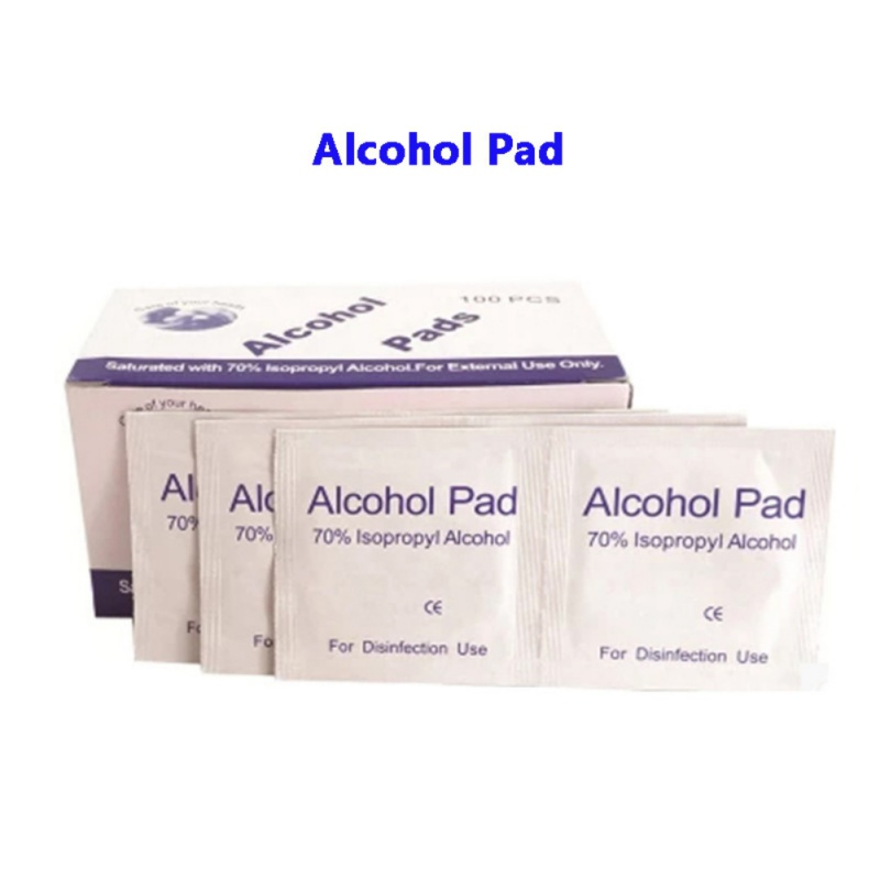 100pcs/box Disinfection Alcohol-coated Cotton Wipes Disposable Sanitized Cleaning Tools(China)