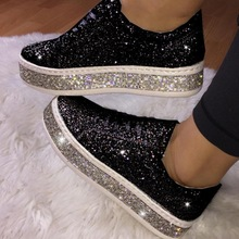 Women Glitter Sneakers Bling Woman Spring New Casual Ladies Vulcanized