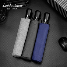Leodaukonw Three Folding Fully Automatic Umbrella Windproof Business Brand 1.2 Meters Simplicity Mens Sunny and Rainy  Umbrella