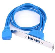 20 pinos para dupla usb3.0 defletor extensão cabo 50cm defletor adaptador de alta velocidade usb 3.0 painel traseiro expansão suporte para computador pc