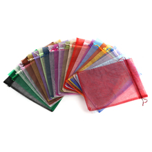 Jewelry Drawstring Bags Pouches Packaging-Bags Organza Doreenbeads 10pcs Gifts Rectangle