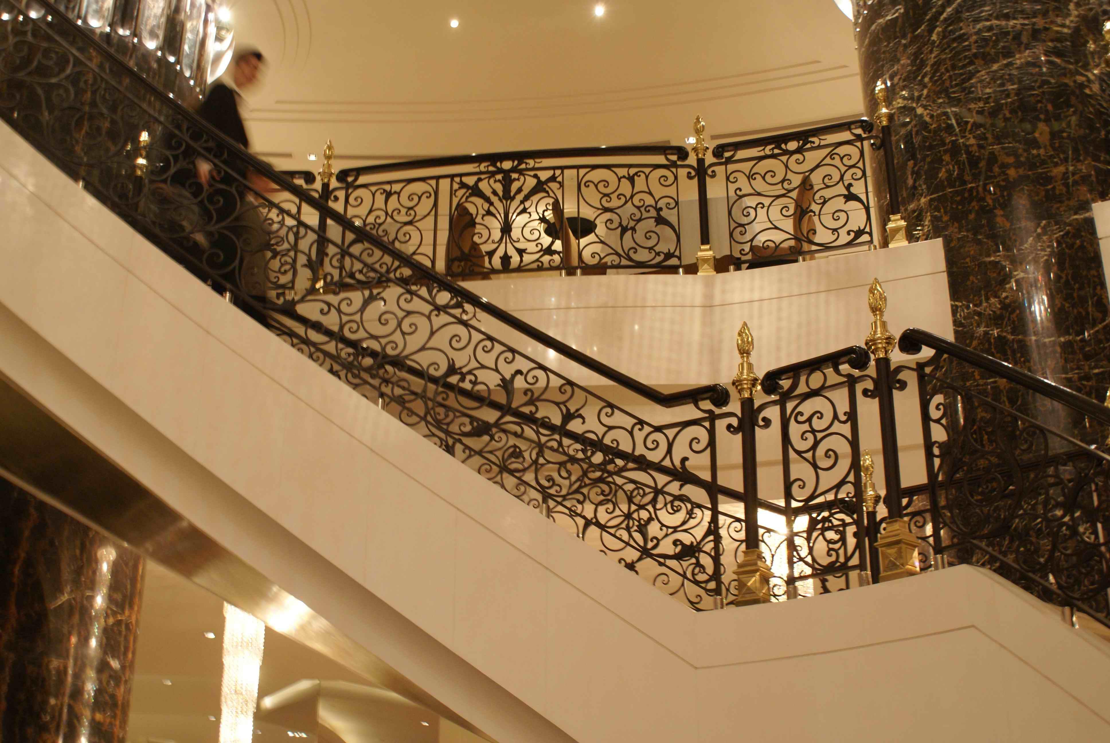 Hench Wrought Iron Balustrade/indoor Wrought Iron Stair Railing Design