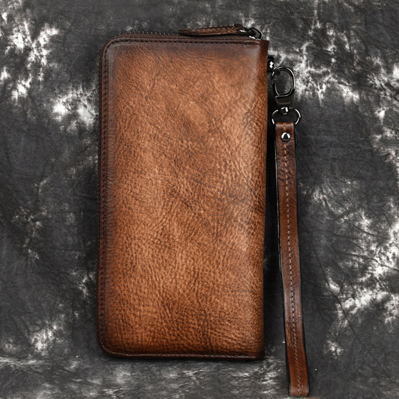 Genuine Leather Vintage Women Wallet Women's Wallets