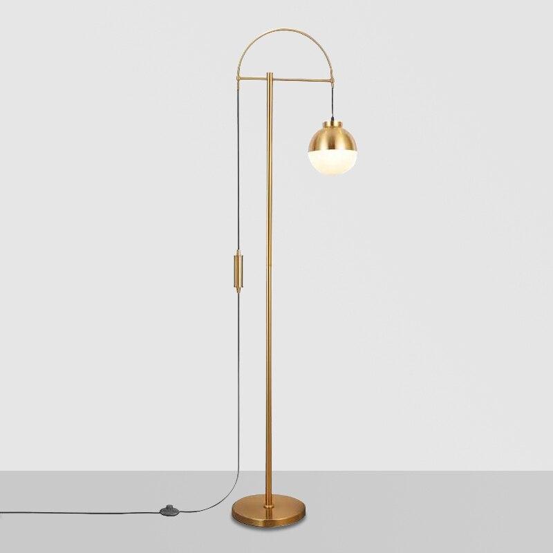 Post-moderne lampadaire chambre étude Simple créatif boule de verre LED salon debout en verre lampadaires interrupteur pour café magasin
