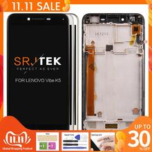 """ORIGINAL 5"""" 1280x720 IPS For Lenovo K5 LCD Display Touch Screen Digitizer with Frame for Lenovo Vibe K5 A6020A40 A6020 A40 LCDs"""