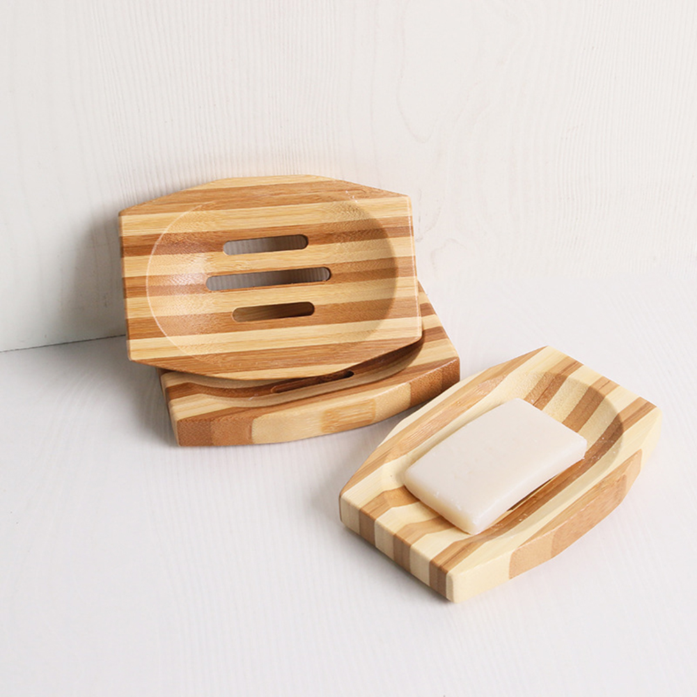 Burly-Wood Bathroom Soap Storage Holder Bath Shower Plate Soap Dish Natural Wooden Soap Box Travel Soap Rack Bathroom Product