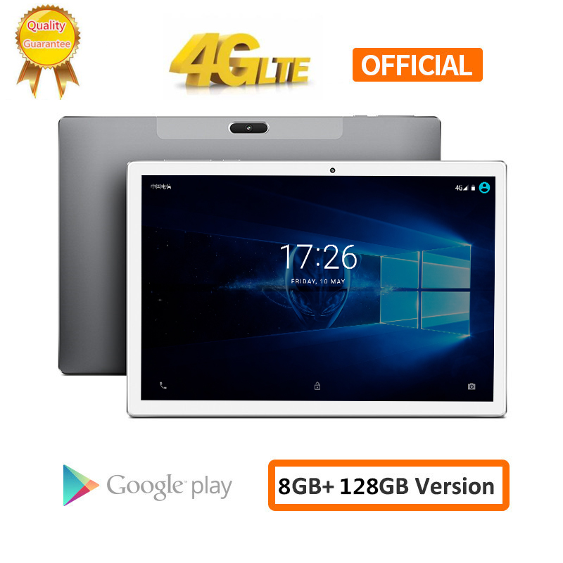 CARBAYTA Tablet PC 10.1 Inch 4G Network Android 8.0 8GB RAM 128GB ROM MT6797 X20 10 Deca Core 2560*1600 8000mAh GPS Dual Wifi