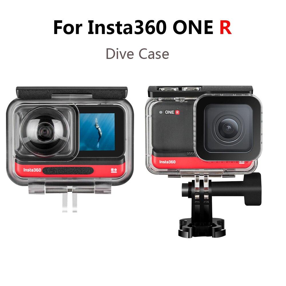 Для Insta360 ONE R чехол для дайвинга, 4K широкоугольный/двойной объектив 360 мод водонепроницаемый бокс для Insta 360 R аксессуары