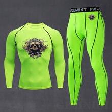 Новинка Мужская модная спортивная одежда со скелетом из двух