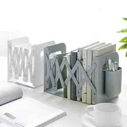 Retractable Bookends For Shelves Book Support Stand Bookshelf With Pen Holder Adjustable Bookends Book Rack Folder Book Stoppers