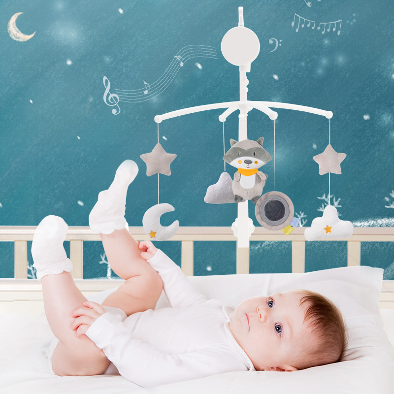 <font><b>Baby</b></font> <font><b>Crib</b></font> <font><b>Holder</b></font> Rattles <font><b>Baby</b></font> <font><b>Toys</b></font> 0-12 Months Kids Music Box Bed <font><b>Toy</b></font> Carousel Mobile For <font><b>Crib</b></font> Toddler Clockwork Kid Rattle <font><b>Toy</b></font> image
