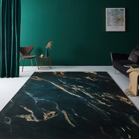 Alfombra de estilo nórdico INS popular color verde oscuro para sala de estar  alfombra de área de hotel sin pelo  alfombra de suelo de decoración