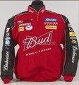 Зимняя мотоциклетная гоночная куртка Budweiser, Мужская мотоциклетная куртка с обычной вышивкой