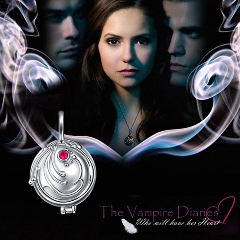 925 argent Verveine pendentif collier femmes ornement argent avec zirconium Elina ornement Vampire Diaries bijoux de mode