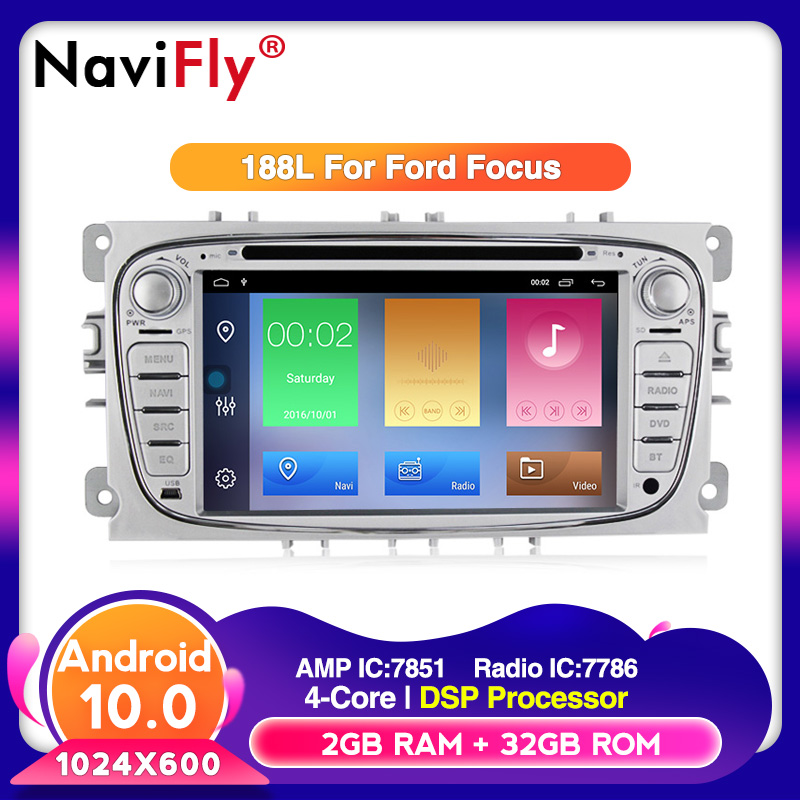 Android 10 32G ROM HD screen Car Multomedia OBD2 <font><b>for</b></font> <font><b>Ford</b></font> <font><b>Focus</b></font> Galaxy Audio Radio Stereo wifi Head Unit TPMS RDS DVD player image