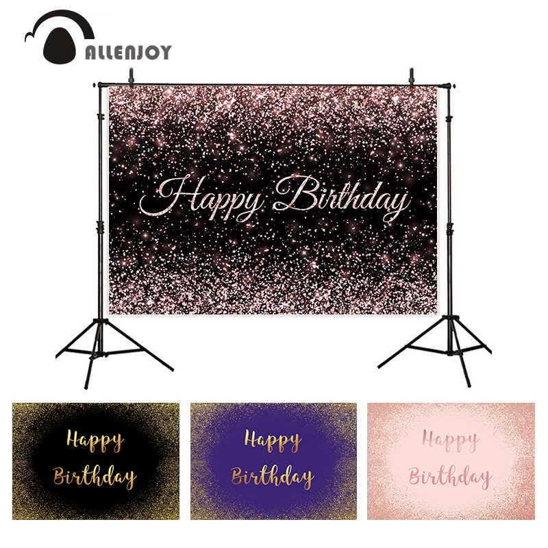 Allenjoy Verjaardag Achtergrond Zand Glitter Bokeh Zwart Violet Gouden Portret Wedding Baby Bruid Valentine Achtergrond Photophone