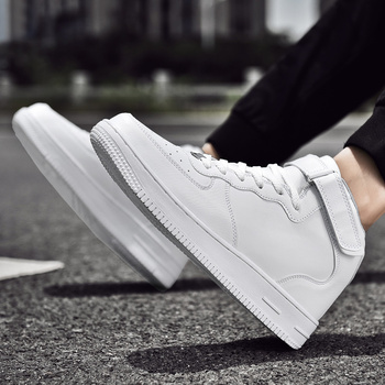 Winter shoes men white shoes high canvas high heel shoes trend fashion comfortable shoes high quality men's casual shoes men 39 s shoes men oxford vulcanize shoes korean men s shoes canvas shoes wild men s casual trend high top to help tides shoes