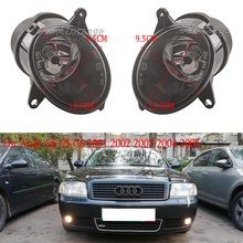 цена на 2Pcs Car-styling Front Halogen Fog Light For Audi A6 C5 C6 2001 2002 2003 2004 2005 Fog Lamp Assembly With halogen Bulbs