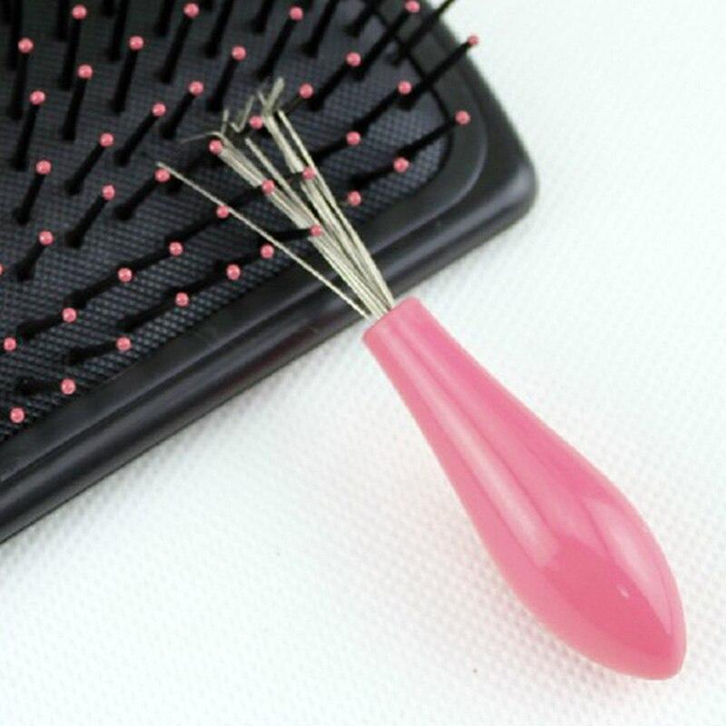 Расческа Щетка для волос Очиститель Пластик металлические чистящая жидкость для снятия встроенный инструмент разные цвета MUMR999