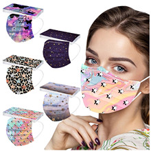 Headband Face-Masks Jetable Outdoor-Protection Mscara 10PCS Masque Dust-Proof Printed