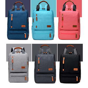 Image 5 - Casual Business Men Computer Backpack Light 15 inch Laptop Bag 2020 Waterproof Oxford cloth Lady Anti theft Travel Backpack Gray