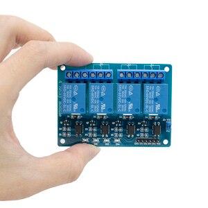 Image 2 - 30 Stks/partij Tenstar Robot Met Optocoupler 4 Kanaals 4 Kanaals Relais Modules Relais Bedieningspaneel Plc Relais 5V vier Manier Module