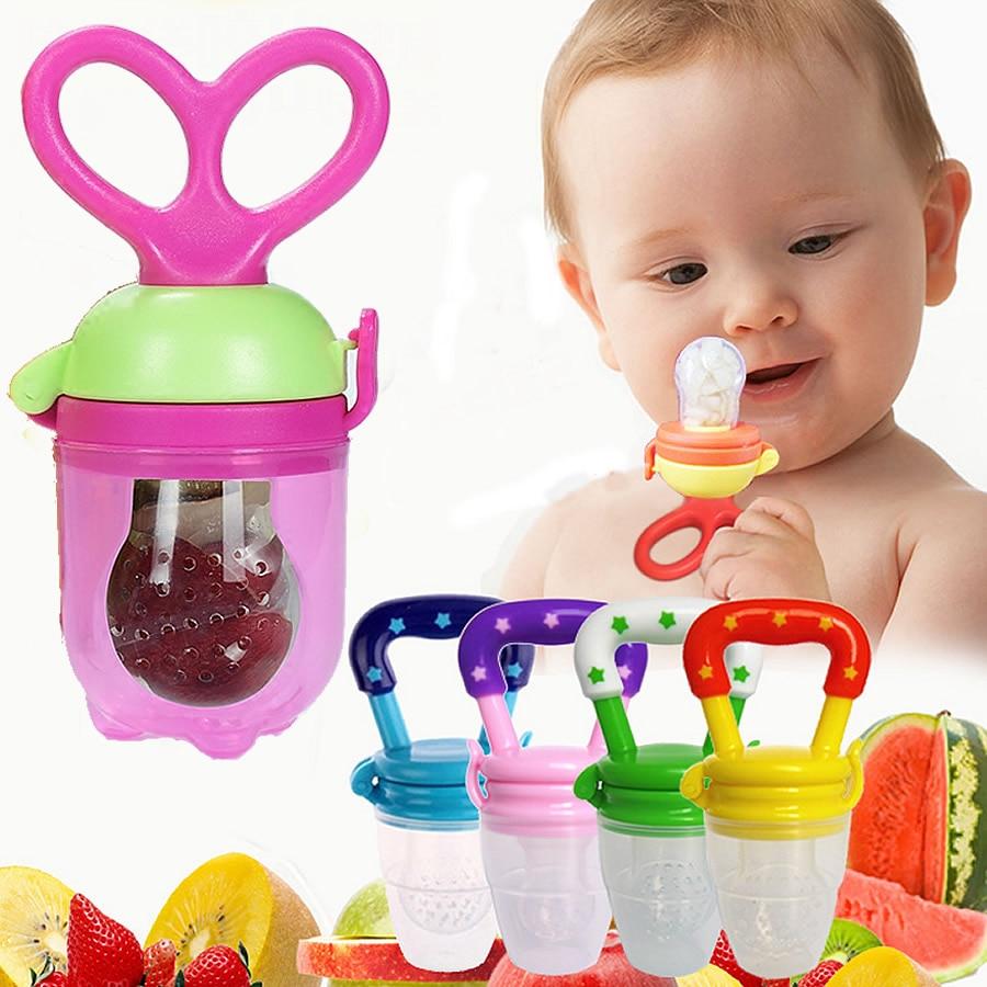 Safe Silicone Baby Feeder Feeding Fresh Food Juice Milk Shake Nibbler Nipple