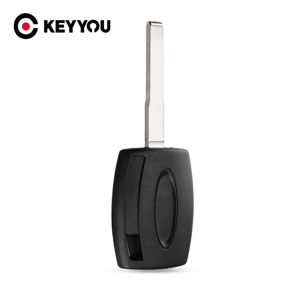 KEYYOU 10 шт./лот чехол для ключа транспондера для Ford Fiesta Mondeo Focus C-Max S-Max Galaxy Kuga HU101 Бесплатная доставка