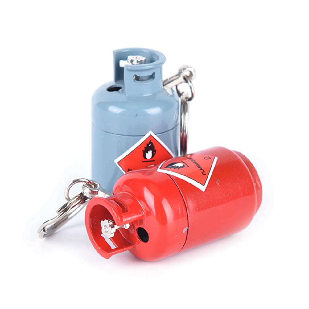 Lovely Mini Gas Cylinder Shaped Key Chain Refillable Butane Cigarette Cigar Flame Lighter  For Man NO GAS Till U Fill Gift